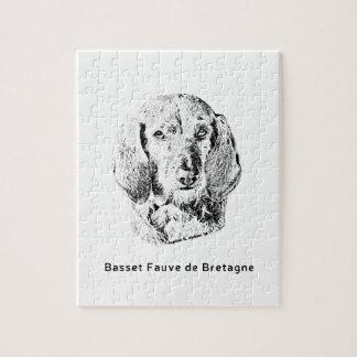 Basset Fauve de Bretagne Drawing Jigsaw Puzzle