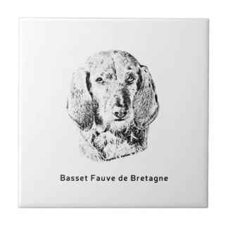 Basset Fauve de Bretagne Drawing Tile
