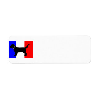 Basset Fauve de Bretagne silo on flag Return Address Label