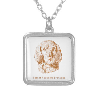 Basset Fauve de Bretagne Silver Plated Necklace