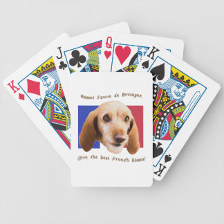 Basset Fauve deBretagne Give Best French Kisses Poker Deck