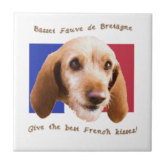 Basset Fauve deBretagne Give Best French Kisses Tile