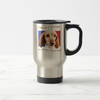 Basset Fauve deBretagne Give Best French Kisses Travel Mug