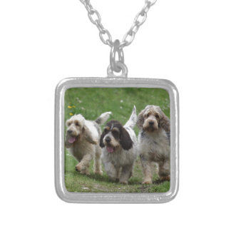 Basset Griffon Vendéen, Grand Dog Silver Plated Necklace