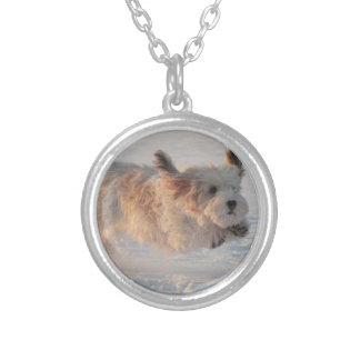 Basset Griffon Vendéen, Grand Puppy Dog Silver Plated Necklace