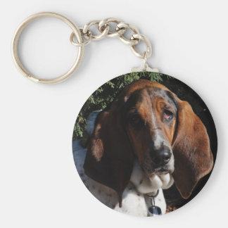 Basset Hound 01 Keychain
