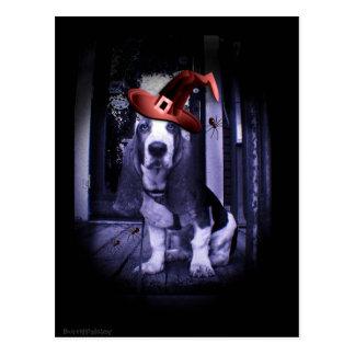 Basset Hound 2010 Howloween Postcard