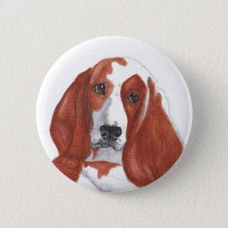 Basset Hound 2 Inch Round Button