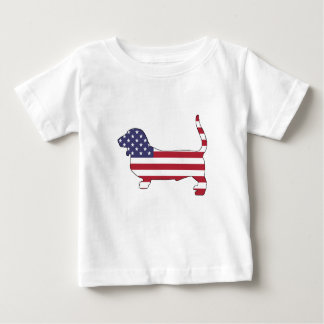 "Basset hound ""American flag"" Baby T-Shirt"