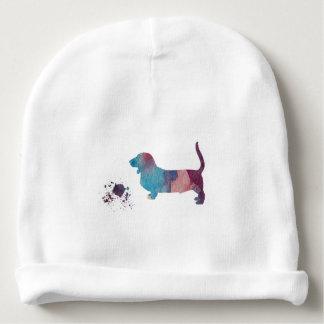 Basset hound art baby beanie