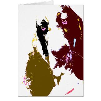 Basset Hound Art Card