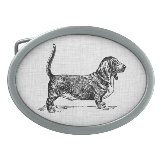 basset hound belt buckle