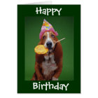 Basset Hound Birthday Lollipop Card