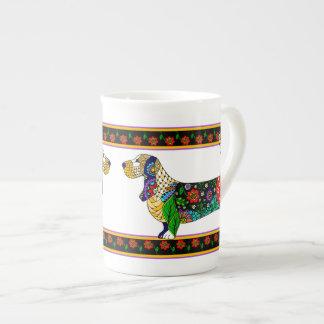 Basset Hound Bone China Mug
