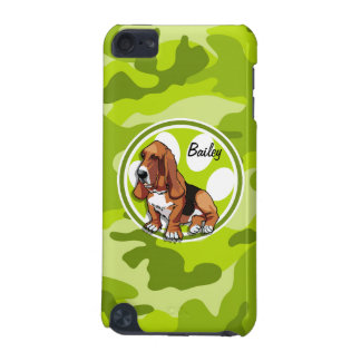 Basset Hound bright green camo camouflage iPod Touch (5th Generation) Cover