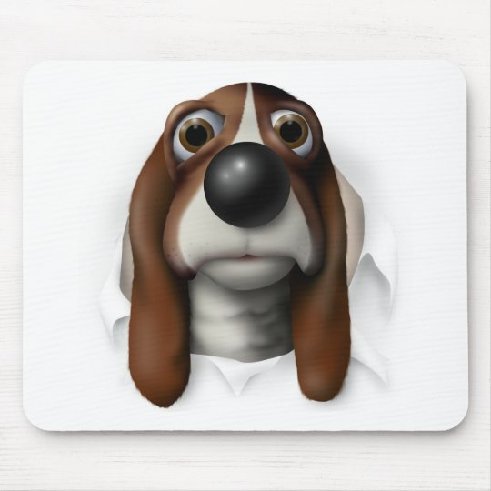Basset Hound Busting Out Mouse Pad