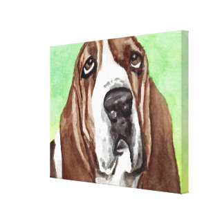 Basset Hound Canvas Art Prints