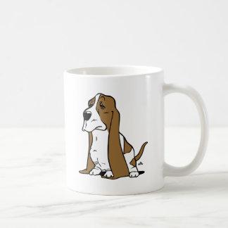 Basset hound cartoon coffee mug