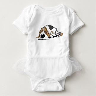 Basset Hound cartoon dog Baby Bodysuit