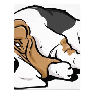Basset Hound cartoon dog Letterhead