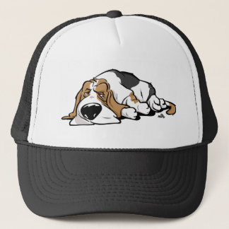 Basset Hound cartoon dog Trucker Hat