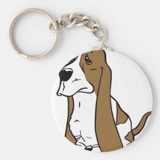 Basset hound cartoon keychain