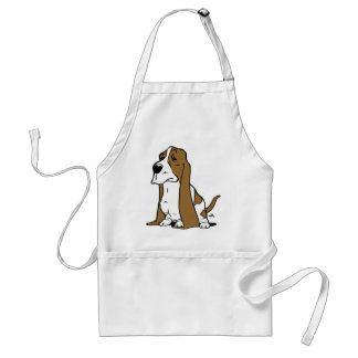 Basset hound cartoon standard apron