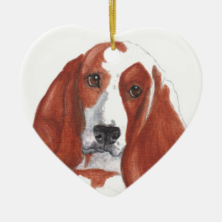 Basset Hound Ceramic Ornament