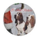 Basset Hound Christmas Cutting Board