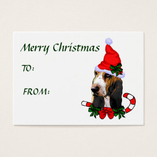 Basset Hound Christmas Gift Name Tags