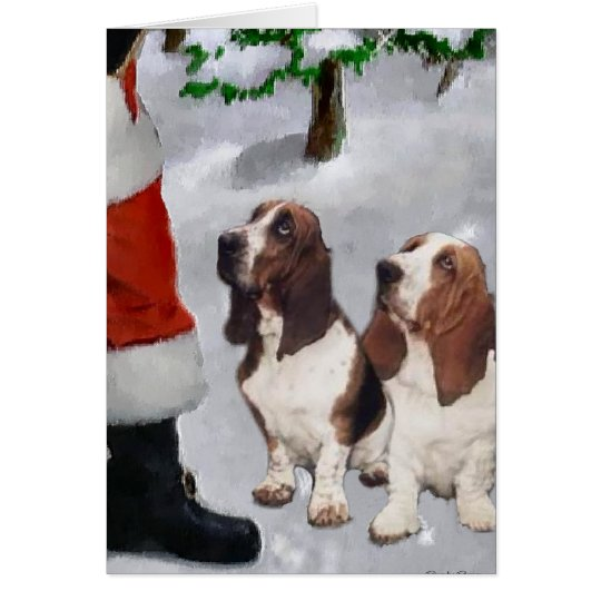 Basset Hound Christmas Gifts Card
