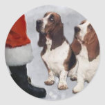 Basset Hound Christmas Gifts Classic Round Sticker
