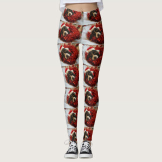 Basset Hound Christmas Leggings