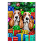 Basset Hound Christmas Open Gifts