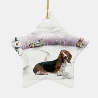 Basset Hound Christmas ornament