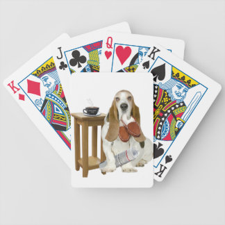 Basset Hound Daddy's Helper Bicycle Playing Cards