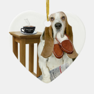 Basset Hound Daddy's Helper Ceramic Ornament