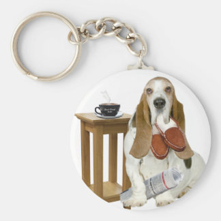Basset Hound Daddy's Helper Keychain