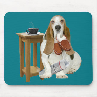 Basset Hound Daddy's Helper Mouse Pad