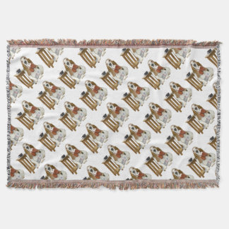 Basset Hound Daddy's Helper Throw Blanket