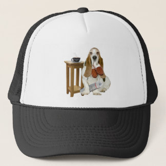 Basset Hound Daddy's Helper Trucker Hat