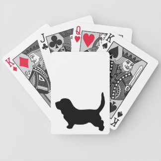 Basset Hound dog beautiful black silhouette, gift Bicycle Playing Cards