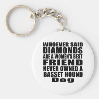 BASSET HOUND DOG BEST FRIEND DESIGNS KEYCHAIN