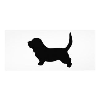 Basset Hound dog black silhouette business card Rack Cards