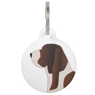 Basset Hound Dog Breed Silhouette Illustration Pet Name Tag