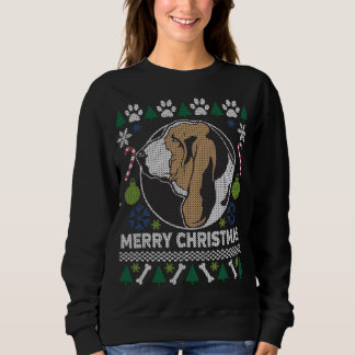 Basset Hound Dog Breed Ugly Christmas Sweater
