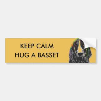 BASSET HOUND DOG - Car Bumper Sticker