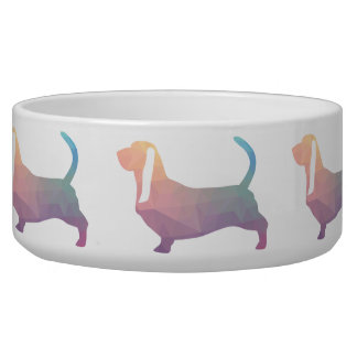 Basset Hound Dog Colorful Geometric Silhouette
