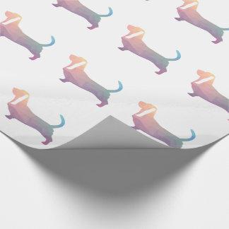 Basset Hound Dog Colorful Geometric Silhouette