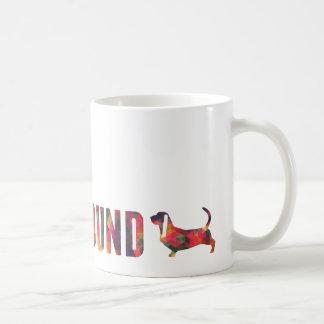 Basset Hound Dog Colorful Graphic Multi Mug